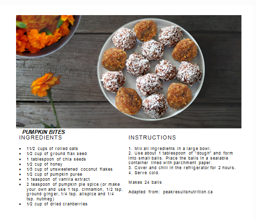 Pumpkin Bites Recipe